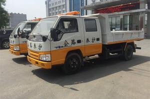 江铃公路养护车(国五 上白下橘黄)